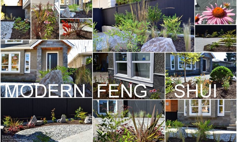 Modern feng shui landscape design coquitlam vancouver Feng shui in building a house