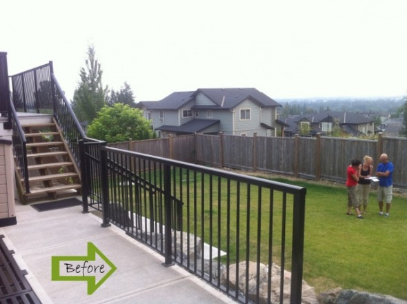 Landscape Design Maple Ridge Before