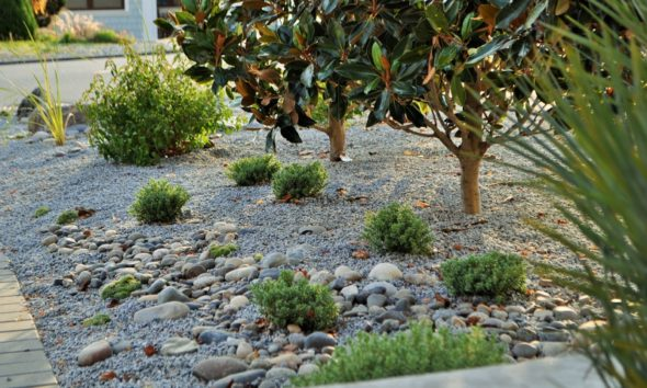 white rock landscape design