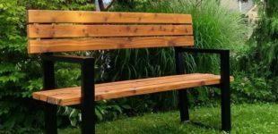 Cedar and Metal Custom Outdoor Furniture Fabrication